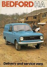 Bedford HA 110 130 Van 1977-78 UK Market Foldout Sales Brochure Vauxhall Viva