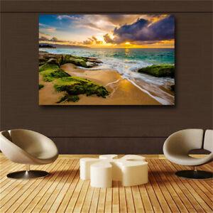 Large art prints Home Decor Canvas Painting Wall Art Beautiful seascape