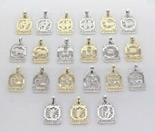14k Gold Zodiac Sign Charm Pendant Available in Yellow or White Gold
