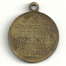 Medaille Anhänger Wilhelm Zur Erinnerung an die Kaiserparade 4.Sep.1893 bei Metz