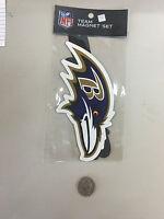 B3) Rico NFL Baltimore Ravens Team Magnet Set 2 pack FREE SHIPPING