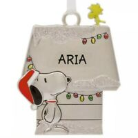 Hallmark ARIA Peanuts Snoopy and Woodstock Charm Christmas Charm Ornament New