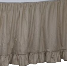 Solid Taupe 650 Tc Cotton Edge Ruffle Gathered Bed Skirt Split Corner All Size