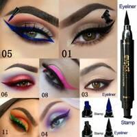 2 in 1 Lasting Eyeliner Stamp Pencil Waterproof Makeup Liquid Eye Liner Pen HOT