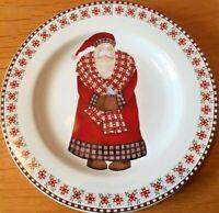 Sakura Collectable Christmas Plate Debbie Mumm 1998 - Santa's Retweet Blue Bird