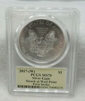 2017 (W) Silver Eagle PCGS MS70 First Strike - signed