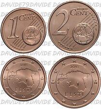 SERIE COMPLETA MONETE EURO ESTONIA 2015 - 1 e 2  CENTESIMI FDC