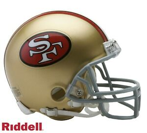 New SAN FRANCISCO 49ers 1964-1995 Riddell ProLine VSR-4 Mini Football Helmet NFL