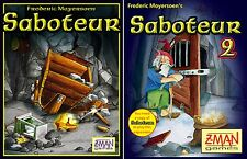 Saboteur 1 & 2 Bundle Pack [Card Game, Explore, 3-10 Players, 30 Min, Ages 8+]