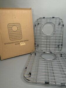 Double Bowl Kitchen Sink Bottom Grid Stainless Steel  2 Grids 14 1/2x11 13x16