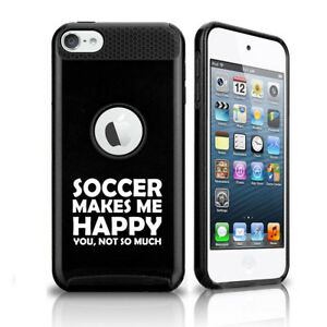 For Apple iPod Touch 5th 6th Shockproof Hard Case Cover Soccer Makes Me Happy