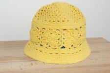 Haube Mütze gelb Mädchen süße Häkelmütze Blumen Babymütze (1510B) 02/2020SD