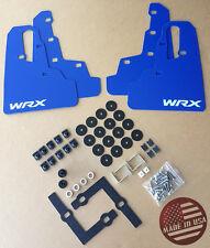 "[SR] 2015-2017 WRX & STi Mud Flaps Set BLUE with Hardware Kit & ""WRX"" Vinyl"