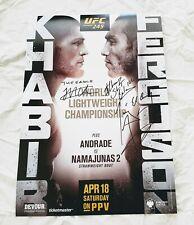 UFC 249 Signed Poster *PROOF Khabib Nurmagomedov Tony Ferguson MMA Dana White