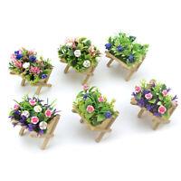 1:12 Dollhouse Miniature Mini Flower Trough Simulation Potted Flower Model gtJCA