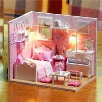 DIY Handgefertigte Miniatur Projekt Puppenhaus Mein Kleine Engel Pink Klavier
