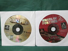 LOT OF 2: Wheel of Fortune 2nd Edition/ Strike Point (PlayStation 1 PS1)
