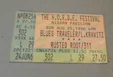 1996 HORDE Festival Blues Traveler Lenny Kravitz Concert Ticket Stub Virginia