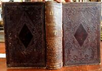 Account Life Spencer Houghton Cone 1856 Baptist Preacher embossed leather book
