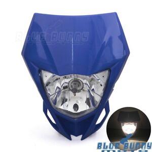 Supermoto Enduro Headlight Head Light Fairing For Yamaha WR250F/X WR450F YZ Blue