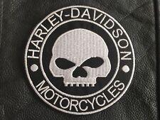 Harley Davidson Patch Aufnäher Skull Biker Kutte Chopper MC G.Willis Rocker 10cm