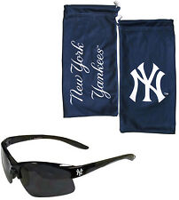 New York Yankees Blade Sunglasses With Microfiber Bag UV 400 MLB Licensed