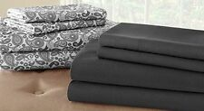 Microfiber Solid Pattern Queen Pacific Sheets & Pillowcases