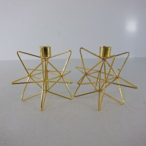 Gold Star Set of 2 Candle Holders *NEW*