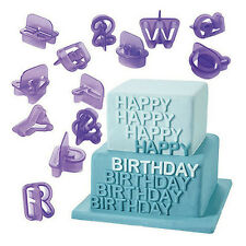 40 Pcs Icing Cutter Mold Alphabet Letter Fondant Cake Decorating Mould Set Great