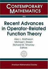 Recent Advances in Operator-Related Function Theory (Contemporary Mathematics)
