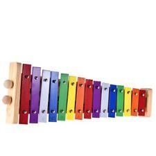 Colorful Glockenspiel Xylophone Wooden & Aluminum Educational Toy 15 Tones J4T2