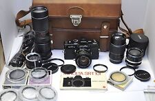 Black Minolta SRT101 35mm SLR Camera w/ 50mm f/1.4 Lens +4 Lenses Filters Manual