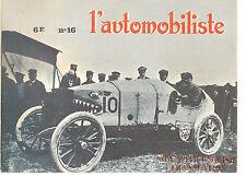 L'AUTOMOBILISTE 16 1969 TURCAT MERY 1897 1929 DELAGE 1500 GRAND PRIX