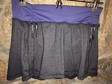 8 - Lululemon Womens Gray & Purple Ruched Sides SKORT Skirt Shorts