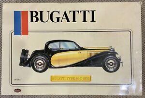 VERY RARE Vintage POCHER 1933 Bugatti Type 50 T 1/8 Scale Art K/76 Model Kit 🔥