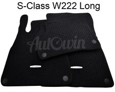 Floor Mats For Mercedes Benz S Class W222 Long Carpets With MB Emblem & Clips