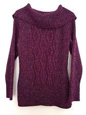 Women's Sweater Petite XL Purple/ Silver by Style & Co.
