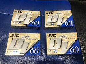 4 x NEW JVC DVM60 60 MIN LP 90 MIN DIGITAL VIDEO CASSETTE MINI DV TAPES SEALED