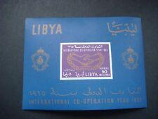 Libya 1965 International Co-operation Year Miniature sheet MNH SG MS 334