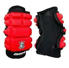 (1) Brine LoPro Superlight Defense Lacrosse Arm Pad Large Red Fast Ship! D26