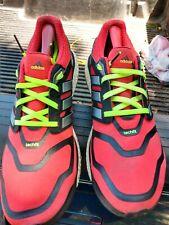 Adidas Energy Boost ( 9.5 Men ) Red Neon Yellow
