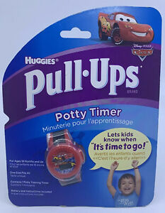 NEW Disney Cars Huggies Pull Ups Potty Timer Watch - Red Boys Bathroom Training