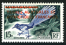 FSAT TAAF 1, MNH. Bird Uratelornis, Overprinted, 1955