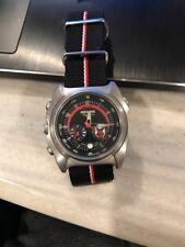 "Men's Watch Nixon ""Channel T"" Black/Red Nylon Strap New Battery"