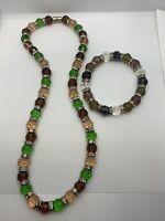 Vintage Czech Crystal Necklace And Bracelet