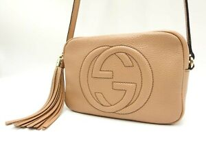 GUCCI Soho Small Disco Bag Interlocking G Crossbody Shoulder Bag 308364 V-6884