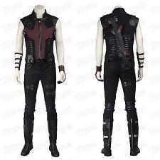 Captain America Civil War Clint Barton Hawkeye Cosplay Costume All Size