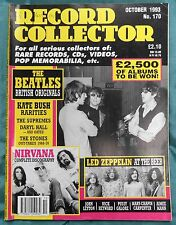 Record Collector Issue 170 Oct 1993, Beatles, Nirvana, Led Zeppelin, Kate Bush
