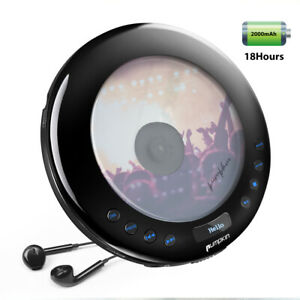 Rechargeable Portable CD Player with Headphone FM Transmitter Anti-Shock for Car