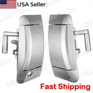 Pair Fits 03-09 Nissan 350Z Left/Right Outside Outer Exterior Silver Door Handle